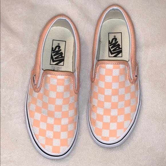 51a3b80f4be Vans Checkerboard Slip Ons. M 5c523d0e1b3294088a9bff33